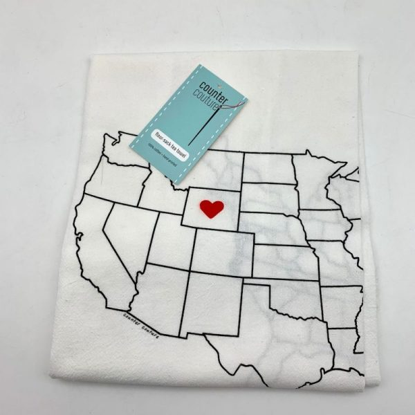 Wyoming Flour-Sack Tea Towel by Counter Couture