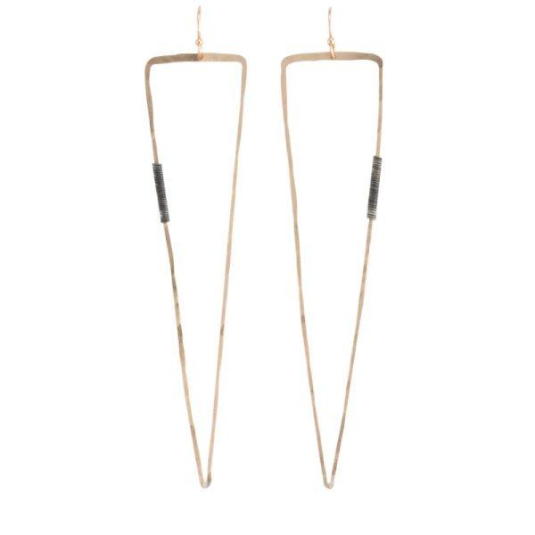 triangular Vendetta Gold Earrings by bohemi