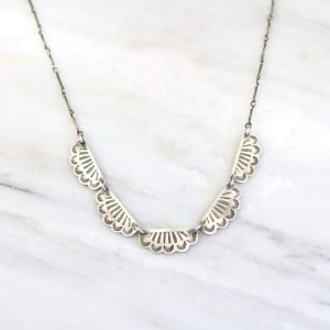 Stamped Southwest Lace Collar Necklace Sarah Deangelo
