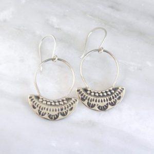 Asmi Fan with Loop Earrings Sarah Deangelo