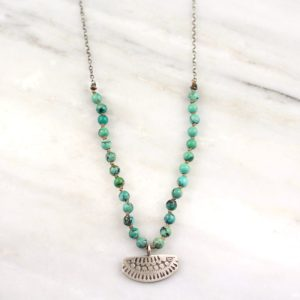 Asmi Knotted Turquoise Necklace Sarah Deangelo