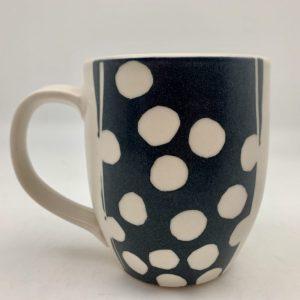 dotted mug blue by rita vali