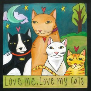 """Meow-zah! 9"""" Plaque by Sincerely Sticks"""