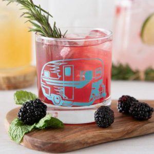 Camper Trailer Rocks Glass by Counter Couture