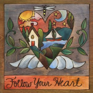 """My Heart's at the Lake 9"""" Plaque by Sincerely Sticks"""