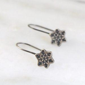 Snowflake Lobe Hugger Earrings by Sarah Deangelo