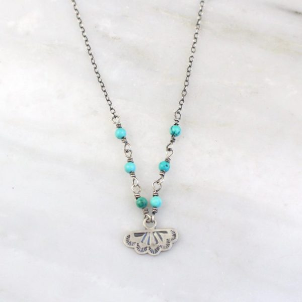 Southwest Lace Charm & Turquoise Necklace Sarah Deangelo