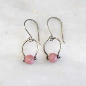 Rhodonite La Cloche Earrings Sarah Deangelo