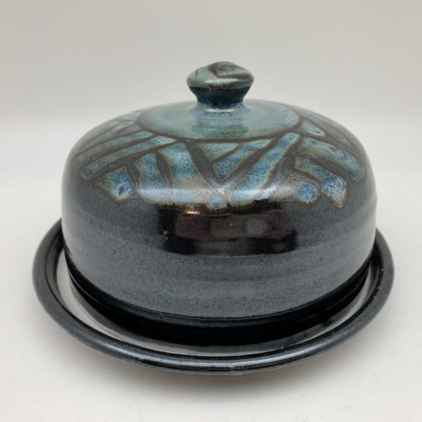 Patterned Porcelain Butter Dish by Margo Brown