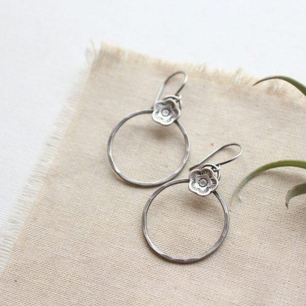 Cactus Flower Hoop Earrings Sarah Deangelo