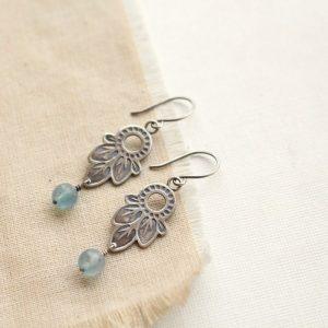 Hishi Moss Aquamarine Earrings Sarah Deangelo