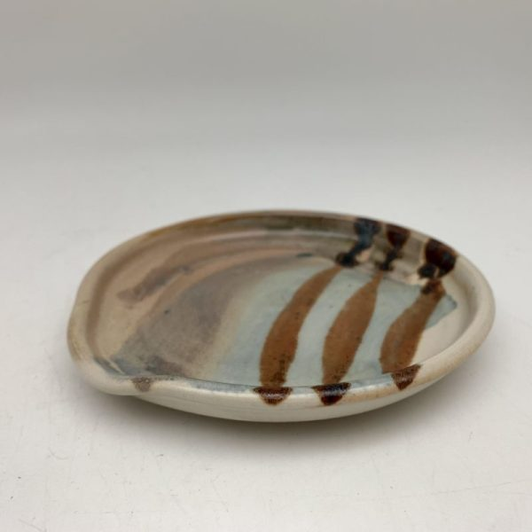 Painted Porcelain Spoon Rest by Margo Brown