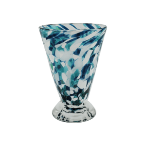 Speckle Cup - Lagoon and White Kingston Glass Studio