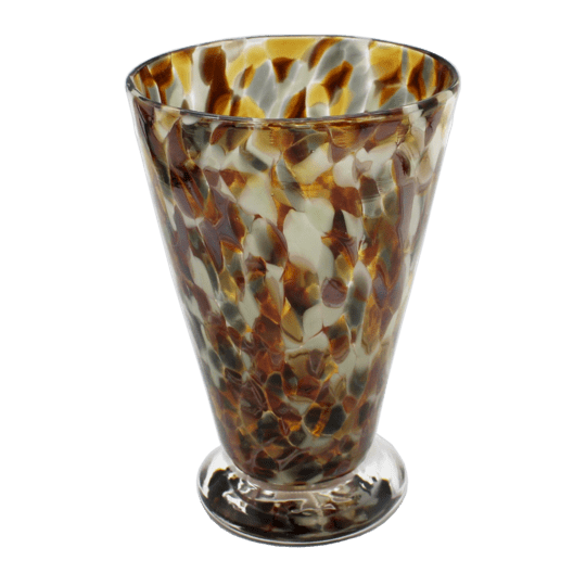 Speckle Cup - Amber and Grey Kingston Glass Studio