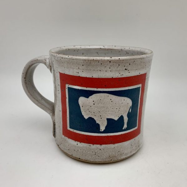Wyo Flag Mug Stephen Mullins Red Bison Studio