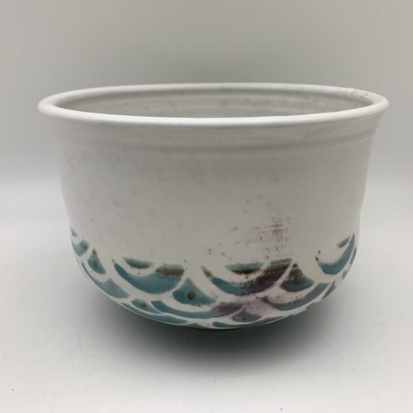Tall Scallop-Pattern Bowl by Margo Brown - 2164