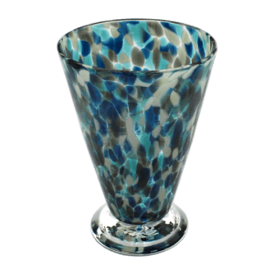 Speckle Cup - Lagoon and Grey Kingston Glass Studio