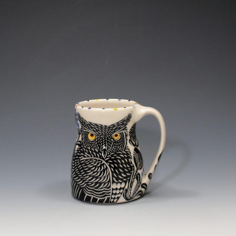 Horned Owl Mug Sue Tirrell
