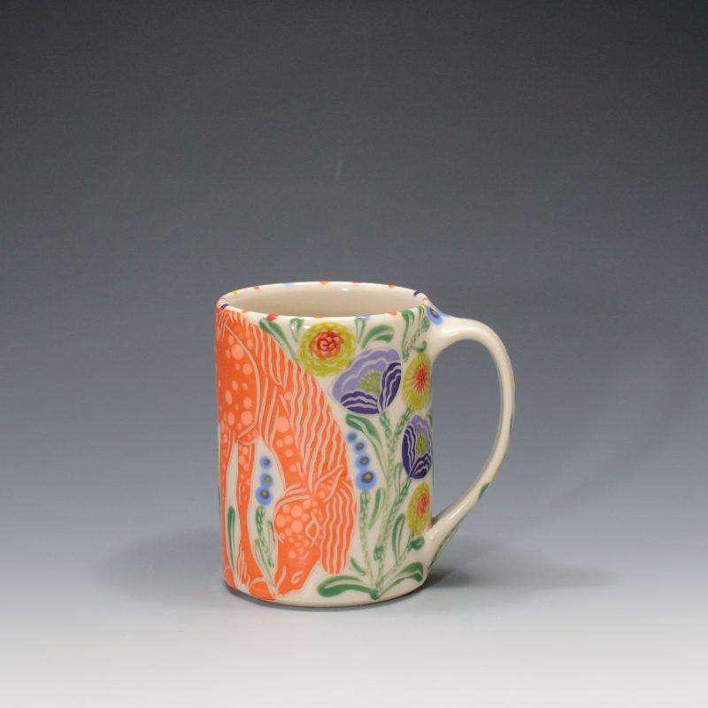Orange Horse Mug Sue Tirrell