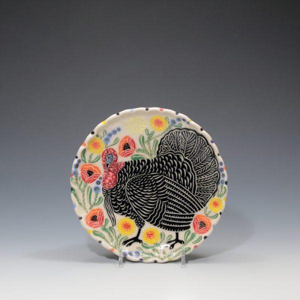 Turkey Dessert Plate Sue Tirrell