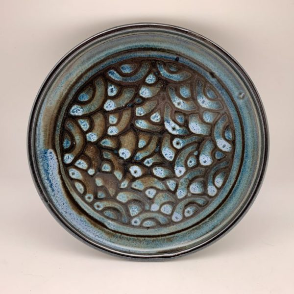 Small Scalloped Plate by Margo Brown - 2310