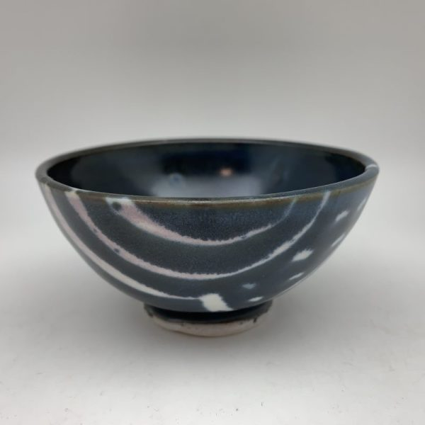 Small Decorated Navy Dish by Margo Brown - 2265