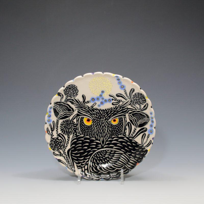 Horned Owl Dessert Plate Sue Tirrell