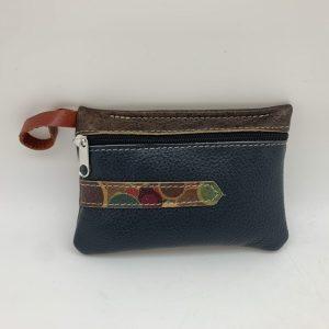 Mini Stash Bag by Traci Jo Designs - Navy/Colorful