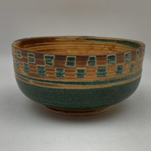 Small Checkered Bowl by Margo Brown - 2436