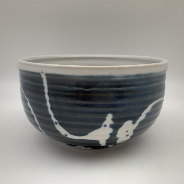 Navy & White Bowl by Margo Brown - 2451