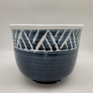 Tall Line-Patterned Bowl by Margo Brown - 2450