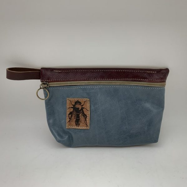 Everyday Stash Bag by Traci Jo Designs - Stone Blue/Bee
