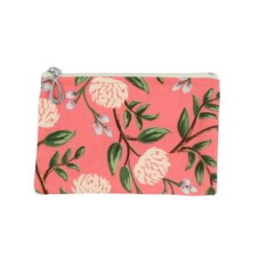 Cotton Coin Purse by Dana Herbert - Coral Peony