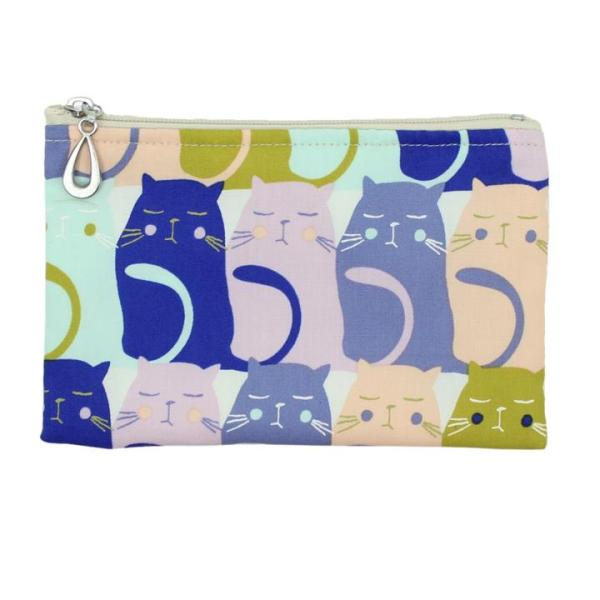 Cotton Coin Purse by Dana Herbert - Colorful Cats