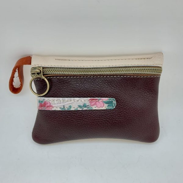 Mini Stash Bag by Traci Jo Designs - Brown/Floral
