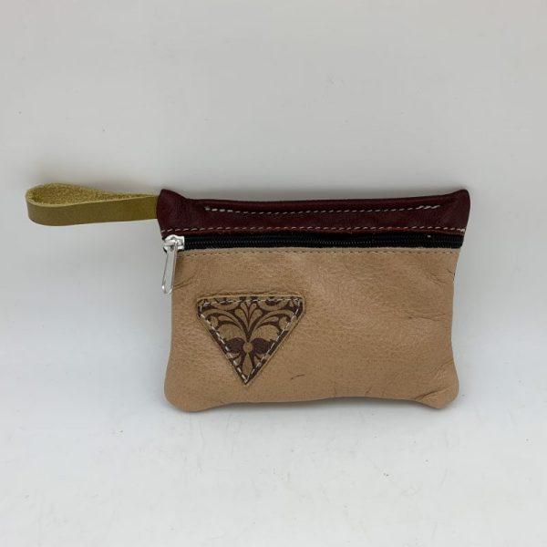 Mini Stash Bag by Traci Jo Designs - Tan/Triangle