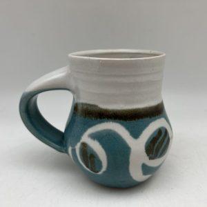 Turquoise String Design Mug by Margo Brown - 2715