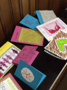Some of the cards made during Global Week of Service