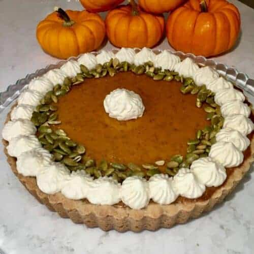 easy sugar and spice pumpkin tart recipe