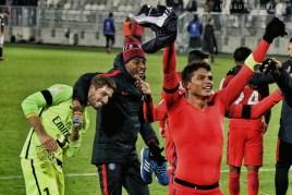 Kevin Trapp, Presnel Kimpembe, Thiago Silva. FCGB/PSG - 24.01.2017