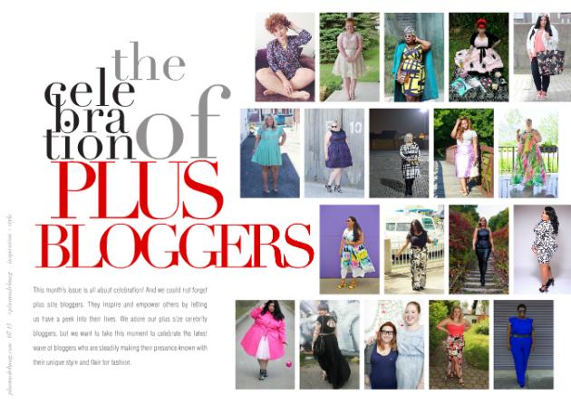 PLUS MODEL MAGAZINE July 2015 the 9th Anniversary Issue blogger celebration