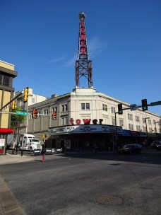 Tower Theater Marquee for WWE NXT Philly Night One