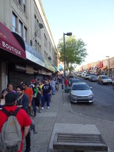 Line outside the Tower Theater for WWE NXT Philly: Night One