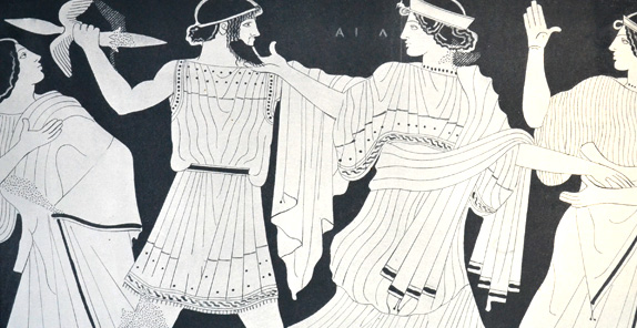 Drawings from ancient Greece, Tourism - Itineraries - Greek wine