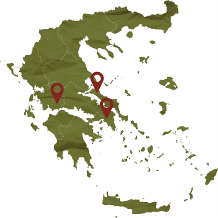Savatiano map locations, Tourism - Itineraries - Greek wine