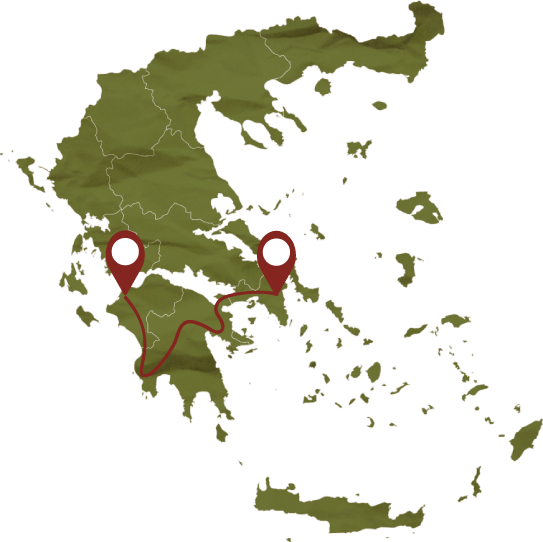 Trip to Peloponnese Map, Tourism - Itineraries - Margo Wine Routes