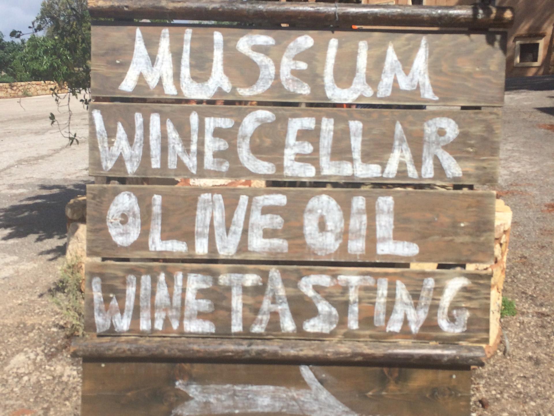 Wine museum board, Tourism - Itineraries - Greek wine