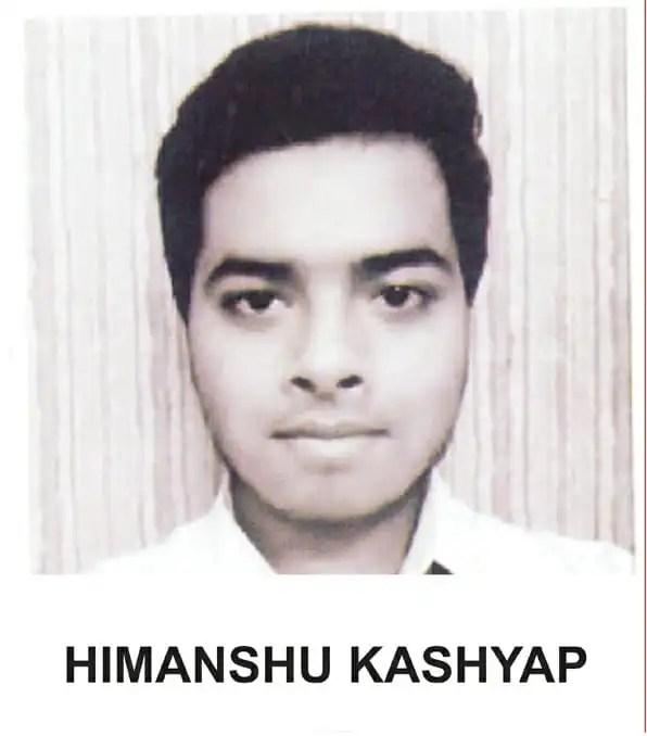 Himanshu kashyap JEET MAINS Topper