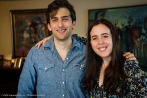 Matthew and Samantha Elisofon. author (writer) Marguerite Elisofon, mother of fraternal twins with autism condition Samantha and Matthew Elisofon.. At her apartment on the Upper East Side, Manhattan, New York. photo by Stefano Giovannini