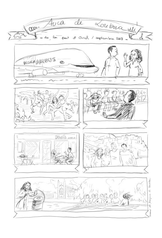 L'auca de Loubna - crayonné - Marguerite Le Bouteiller